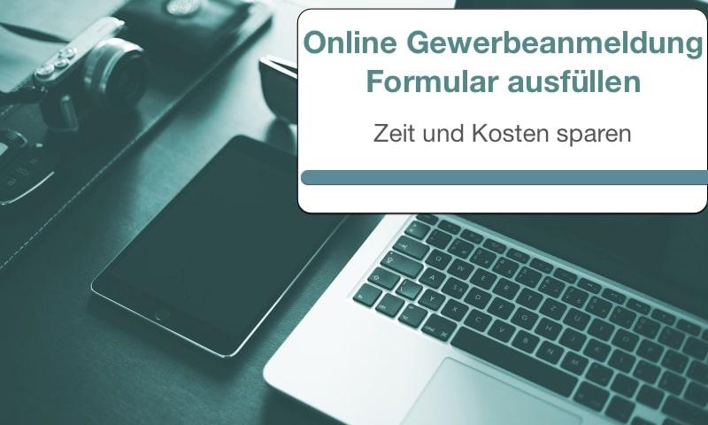 Online Gewerbeanmeldung Formular ausfüllen